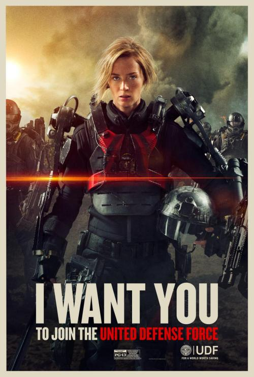 And if the poster looks a little familiar, well that's a bit of meta fun. Like the world of the movie has ad guys who are willing to steal from old video game imagery if it'll get recruits.